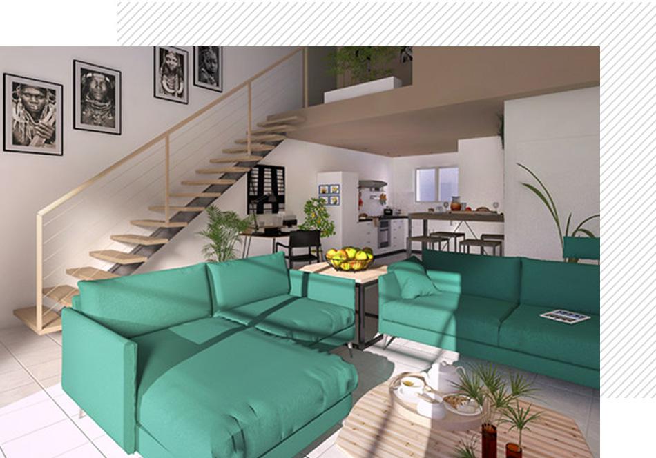 interieur maison loft evolutive occitanie